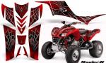 Kawasaki KFX 700 CreatorX Graphics Kit SpiderX Red 150x90 - Kawasaki KFX 700 Graphics