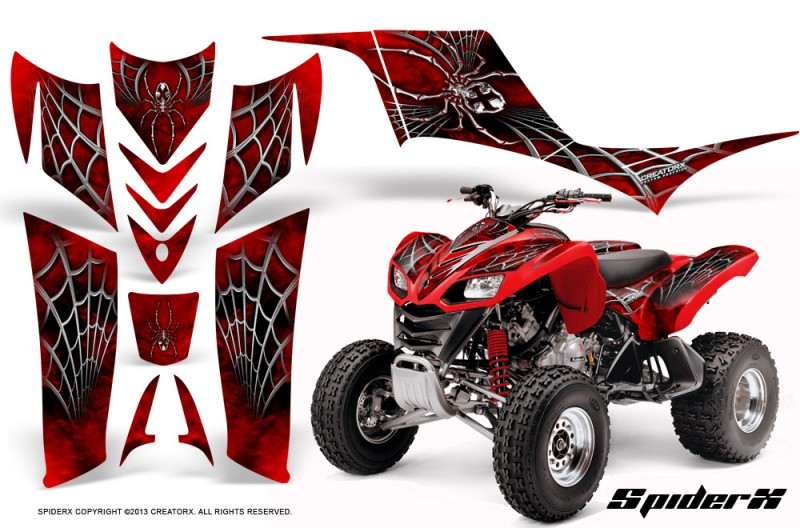 Kawasaki-KFX-700-CreatorX-Graphics-Kit-SpiderX-Red