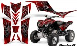 Kawasaki KFX 700 CreatorX Graphics Kit SpiderX Red BB 150x90 - Kawasaki KFX 700 Graphics