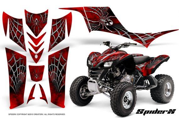 Kawasaki KFX 700 CreatorX Graphics Kit SpiderX Red BB 570x376 - Kawasaki KFX 700 Graphics