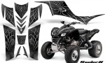 Kawasaki KFX 700 CreatorX Graphics Kit SpiderX Silver 150x90 - Kawasaki KFX 700 Graphics