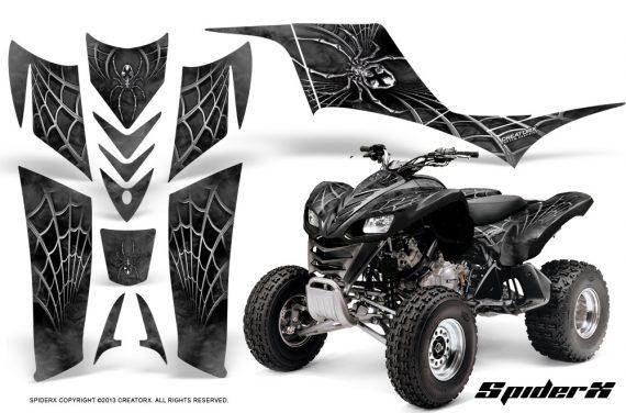 Kawasaki KFX 700 CreatorX Graphics Kit SpiderX Silver 570x376 - Kawasaki KFX 700 Graphics
