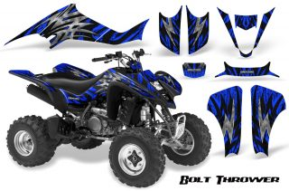 Kawasaki KFX400 03 08 CreatorX Graphics Kit Bolt Thrower Blue BB 320x211 - Kawasaki KFX 400 Graphics