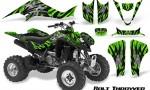 Kawasaki KFX400 03 08 CreatorX Graphics Kit Bolt Thrower Green BB 150x90 - Kawasaki KFX 400 Graphics