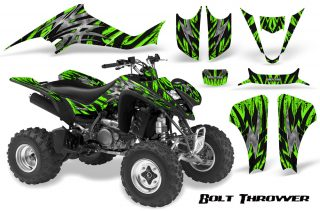 Kawasaki KFX400 03 08 CreatorX Graphics Kit Bolt Thrower Green BB 320x211 - Kawasaki KFX 400 Graphics