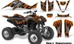Kawasaki KFX400 03 08 CreatorX Graphics Kit Bolt Thrower Orange BB 150x90 - Kawasaki KFX 400 Graphics
