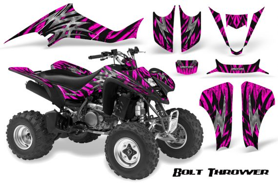 Kawasaki KFX400 03 08 CreatorX Graphics Kit Bolt Thrower Pink BB 570x376 - Kawasaki KFX 400 Graphics