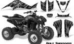 Kawasaki KFX400 03 08 CreatorX Graphics Kit Bolt Thrower Silver BB 150x90 - Kawasaki KFX 400 Graphics