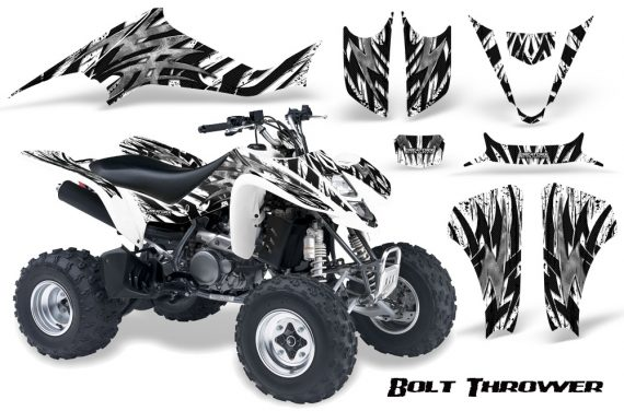 Kawasaki KFX400 03 08 CreatorX Graphics Kit Bolt Thrower White WB 570x376 - Kawasaki KFX 400 Graphics