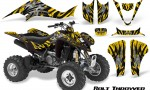 Kawasaki KFX400 03 08 CreatorX Graphics Kit Bolt Thrower Yellow BB 150x90 - Kawasaki KFX 400 Graphics