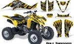 Kawasaki KFX400 03 08 CreatorX Graphics Kit Bolt Thrower Yellow YB 150x90 - Kawasaki KFX 400 Graphics
