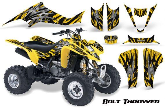 Kawasaki KFX400 03 08 CreatorX Graphics Kit Bolt Thrower Yellow YB 570x376 - Kawasaki KFX 400 Graphics