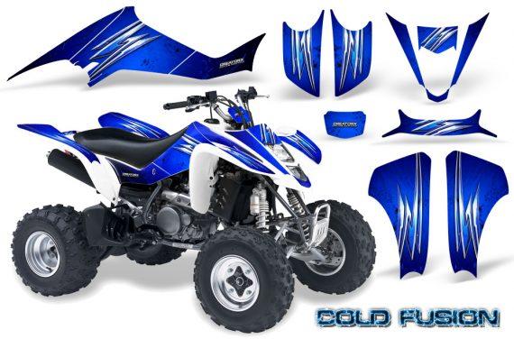 Kawasaki KFX400 03 08 CreatorX Graphics Kit Cold Fusion Blue 570x376 - Kawasaki KFX 400 Graphics
