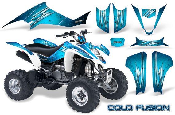 Kawasaki KFX400 03 08 CreatorX Graphics Kit Cold Fusion BlueIce 570x376 - Kawasaki KFX 400 Graphics