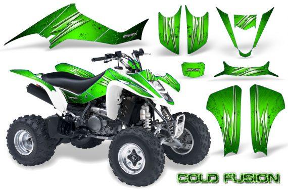 Kawasaki KFX400 03 08 CreatorX Graphics Kit Cold Fusion Green 570x376 - Kawasaki KFX 400 Graphics