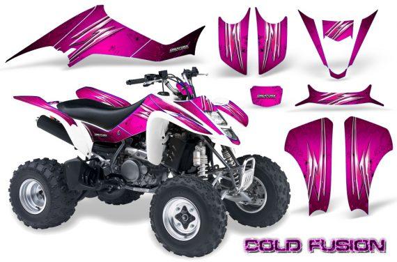 Kawasaki KFX400 03 08 CreatorX Graphics Kit Cold Fusion Pink 570x376 - Kawasaki KFX 400 Graphics