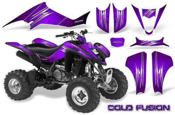 Kawasaki KFX400 03 08 CreatorX Graphics Kit Cold Fusion Purple 570x376 - Kawasaki KFX 400 Graphics