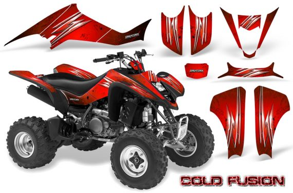 Kawasaki KFX400 03 08 CreatorX Graphics Kit Cold Fusion Red BB 570x376 - Kawasaki KFX 400 Graphics
