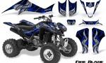 Kawasaki KFX400 03 08 CreatorX Graphics Kit Fire Blade Blue Black 150x90 - Kawasaki KFX 400 Graphics