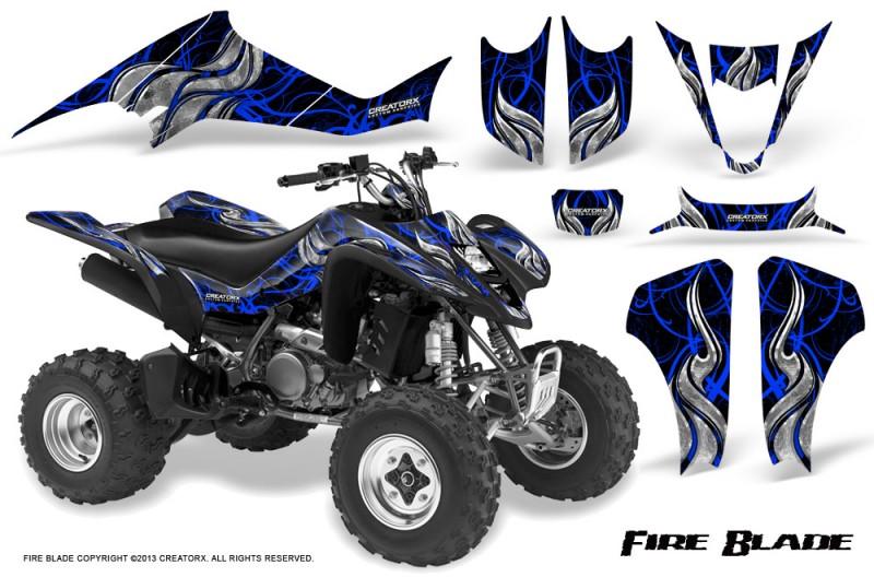 Kawasaki-KFX400-03-08-CreatorX-Graphics-Kit-Fire-Blade-Blue-Black