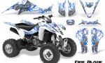 Kawasaki KFX400 03 08 CreatorX Graphics Kit Fire Blade Blue White 150x90 - Kawasaki KFX 400 Graphics