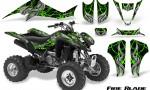 Kawasaki KFX400 03 08 CreatorX Graphics Kit Fire Blade Green Black 150x90 - Kawasaki KFX 400 Graphics