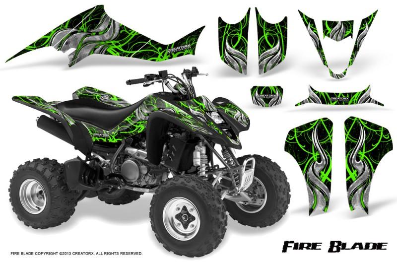 Kawasaki-KFX400-03-08-CreatorX-Graphics-Kit-Fire-Blade-Green-Black