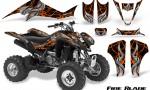 Kawasaki KFX400 03 08 CreatorX Graphics Kit Fire Blade Orange Black 150x90 - Kawasaki KFX 400 Graphics