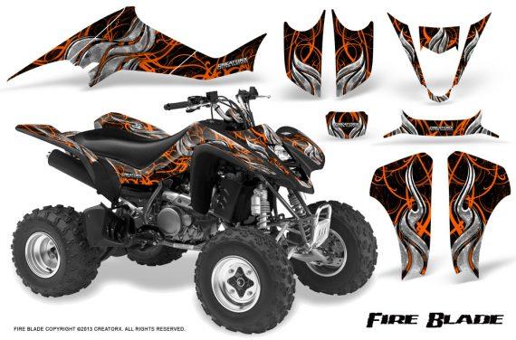 Kawasaki KFX400 03 08 CreatorX Graphics Kit Fire Blade Orange Black 570x376 - Kawasaki KFX 400 Graphics