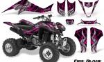Kawasaki KFX400 03 08 CreatorX Graphics Kit Fire Blade Pink Black 150x90 - Kawasaki KFX 400 Graphics