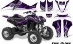 Kawasaki KFX400 03 08 CreatorX Graphics Kit Fire Blade Purple Black 150x90 - Kawasaki KFX 400 Graphics