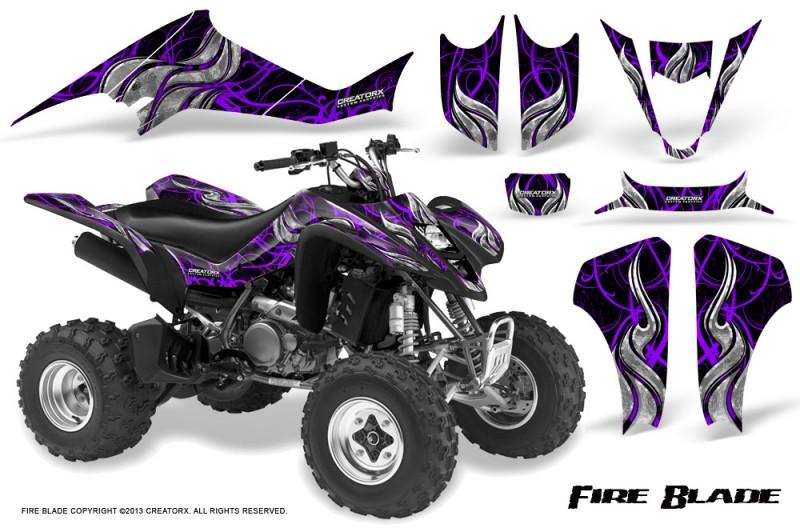 Kawasaki-KFX400-03-08-CreatorX-Graphics-Kit-Fire-Blade-Purple-Black