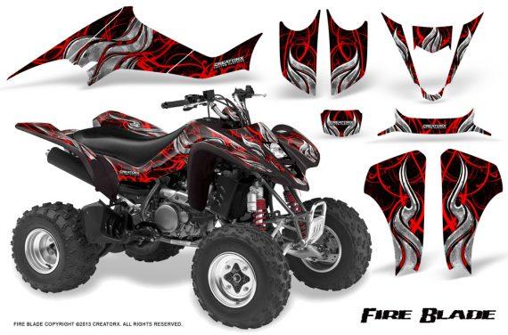 Kawasaki KFX400 03 08 CreatorX Graphics Kit Fire Blade Red Black 570x376 - Kawasaki KFX 400 Graphics