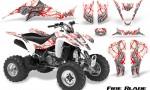 Kawasaki KFX400 03 08 CreatorX Graphics Kit Fire Blade Red White 150x90 - Kawasaki KFX 400 Graphics