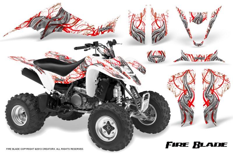 Kawasaki-KFX400-03-08-CreatorX-Graphics-Kit-Fire-Blade-Red-White