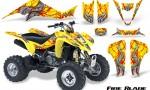 Kawasaki KFX400 03 08 CreatorX Graphics Kit Fire Blade Red Yellow 150x90 - Kawasaki KFX 400 Graphics