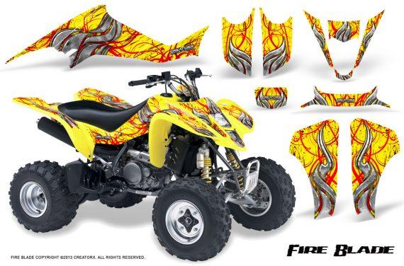 Kawasaki KFX400 03 08 CreatorX Graphics Kit Fire Blade Red Yellow 570x376 - Kawasaki KFX 400 Graphics