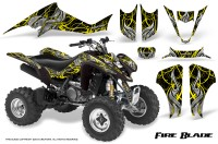 Kawasaki-KFX400-03-08-CreatorX-Graphics-Kit-Fire-Blade-Yellow-Black