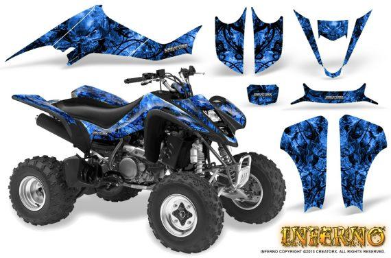 Kawasaki KFX400 03 08 CreatorX Graphics Kit Inferno Blue 570x376 - Kawasaki KFX 400 Graphics