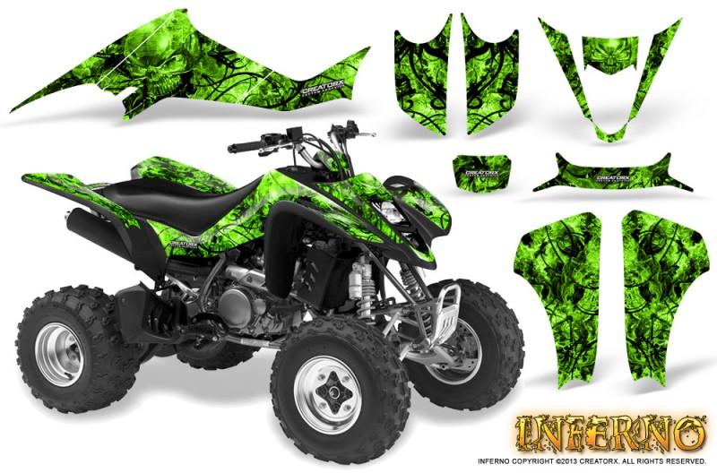 Kawasaki-KFX400-03-08-CreatorX-Graphics-Kit-Inferno-Green