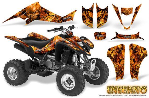 Kawasaki KFX400 03 08 CreatorX Graphics Kit Inferno Orange 570x376 - Kawasaki KFX 400 Graphics