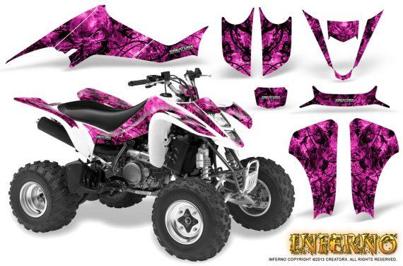 Kawasaki KFX400 03 08 CreatorX Graphics Kit Inferno Pink 570x376 - Kawasaki KFX 400 Graphics