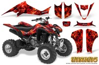 Kawasaki-KFX400-03-08-CreatorX-Graphics-Kit-Inferno-Red