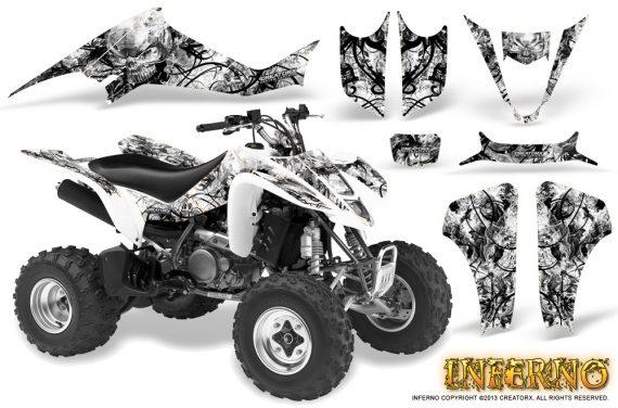 Kawasaki KFX400 03 08 CreatorX Graphics Kit Inferno White 570x376 - Kawasaki KFX 400 Graphics