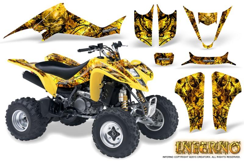Kawasaki-KFX400-03-08-CreatorX-Graphics-Kit-Inferno-Yellow