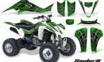 Kawasaki KFX400 03 08 CreatorX Graphics Kit SpiderX Green WB 150x90 - Kawasaki KFX 400 Graphics