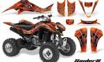 Kawasaki KFX400 03 08 CreatorX Graphics Kit SpiderX Orange BB 150x90 - Kawasaki KFX 400 Graphics