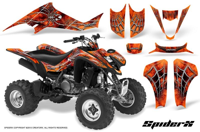 Kawasaki-KFX400-03-08-CreatorX-Graphics-Kit-SpiderX-Orange-BB