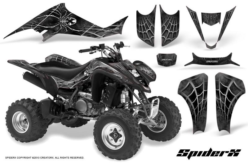 Kawasaki-KFX400-03-08-CreatorX-Graphics-Kit-SpiderX-Silver