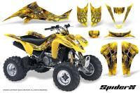 Kawasaki-KFX400-03-08-CreatorX-Graphics-Kit-SpiderX-Yellow
